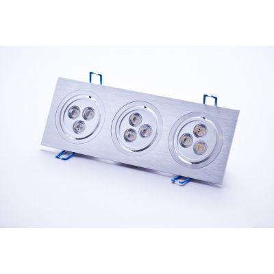 Oprawa sufitowa LED Greenie 3x 3x1Power LED 11W