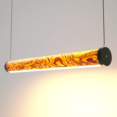 Lampa LED Wooden TUBE Olive Wi-Fi-Control