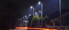 Uliczne lampy i źródła światła LED